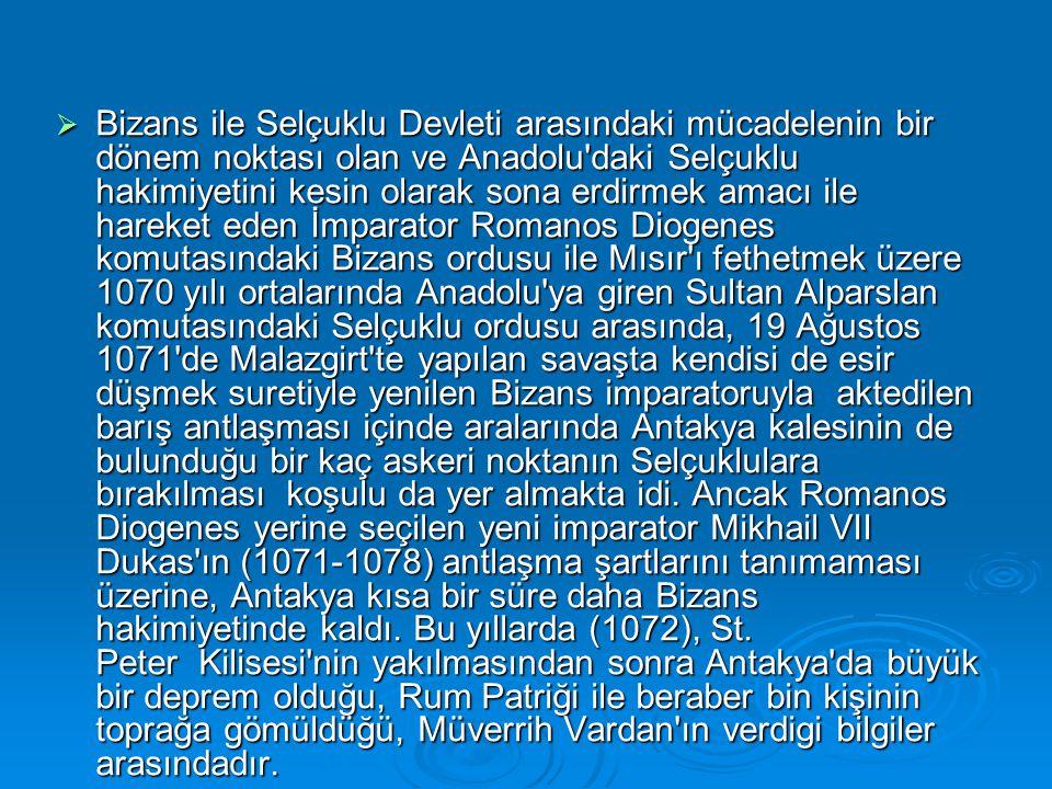  Bizans ile Selçuklu Devleti arasındaki mücadelenin bir dönem noktası olan ve Anadolu'daki Selçuklu hakimiyetini kesin olarak sona erdirmek amacı ile