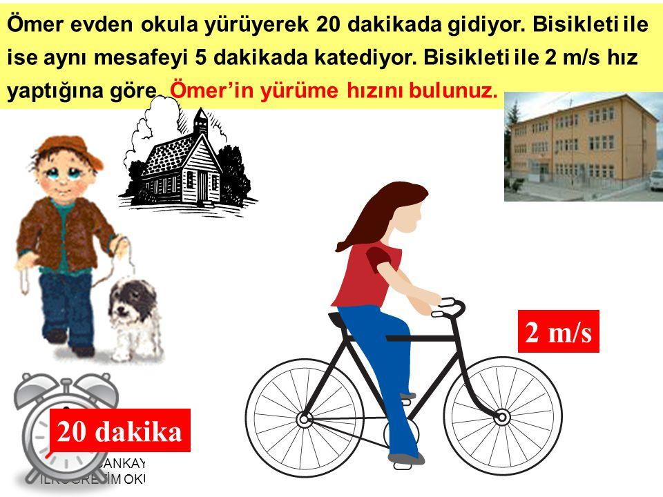 MERSİN ÇANKAYA İLKÖĞRETİM OKULU AHMET HARMANBAŞI26 Ömer evden okula yürüyerek 20 dakikada gidiyor.