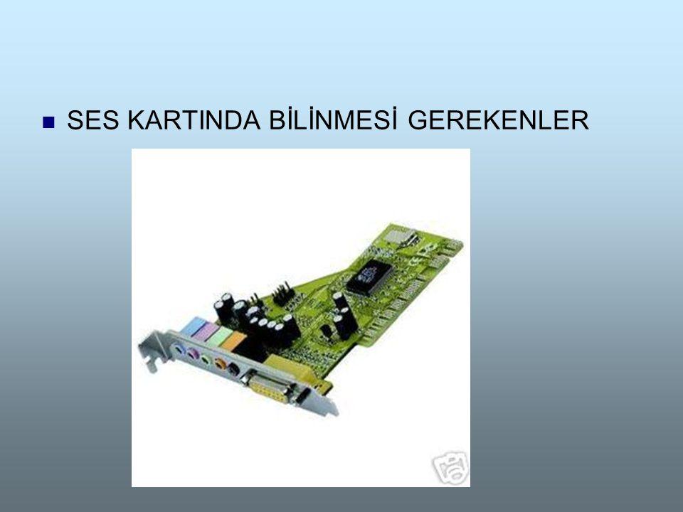  SES KARTINDA BİLİNMESİ GEREKENLER