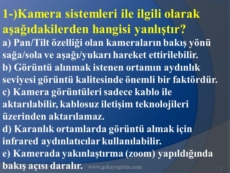 www.gokayegitim.com23 21-)Aşağıdakilerden hangisi iletişimi engelleyen davranışlardan değildir.
