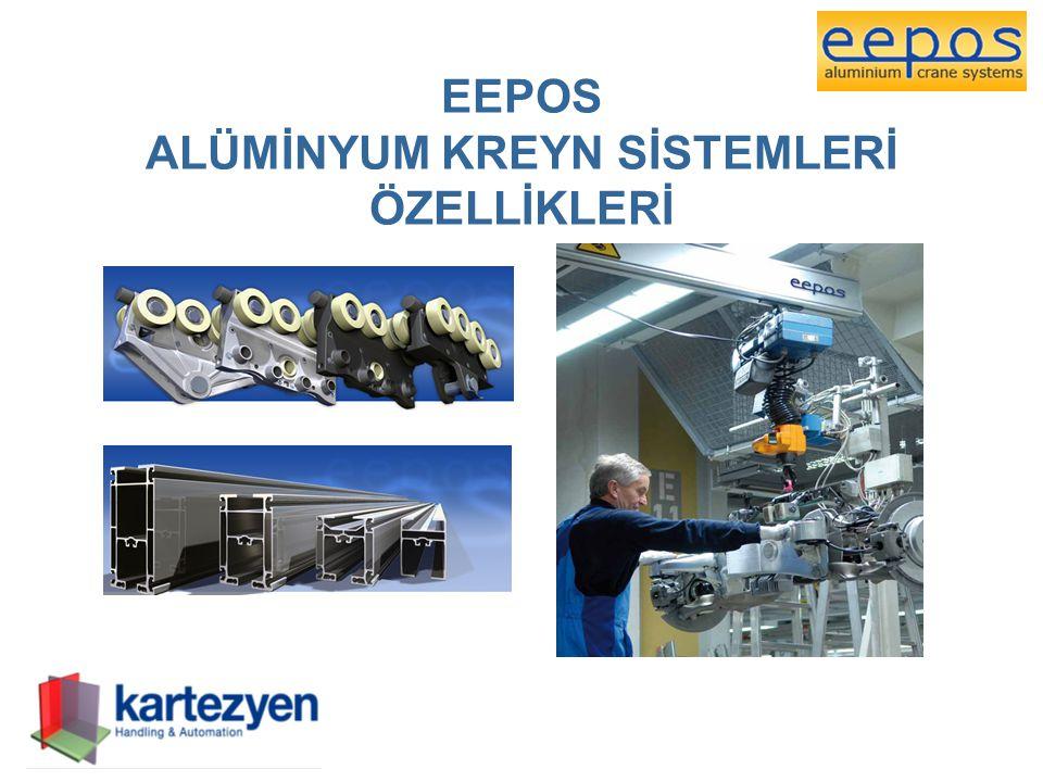EEPOS YÜKSELTİLMİŞ TEK-KÖPRÜ TELESKOP KREYN (EEPOS SINGLE-GIRDER ELEVATED TELESCOPE-SGET) Yükseltilmiş Tek-Köprü Teleskop Kreyn sayesinde alçak tavanlı alanlarda çalışmak mümkün hale gelmektedir ve daha önce girilemeyen bölgelere ulaşılabilmektedir.
