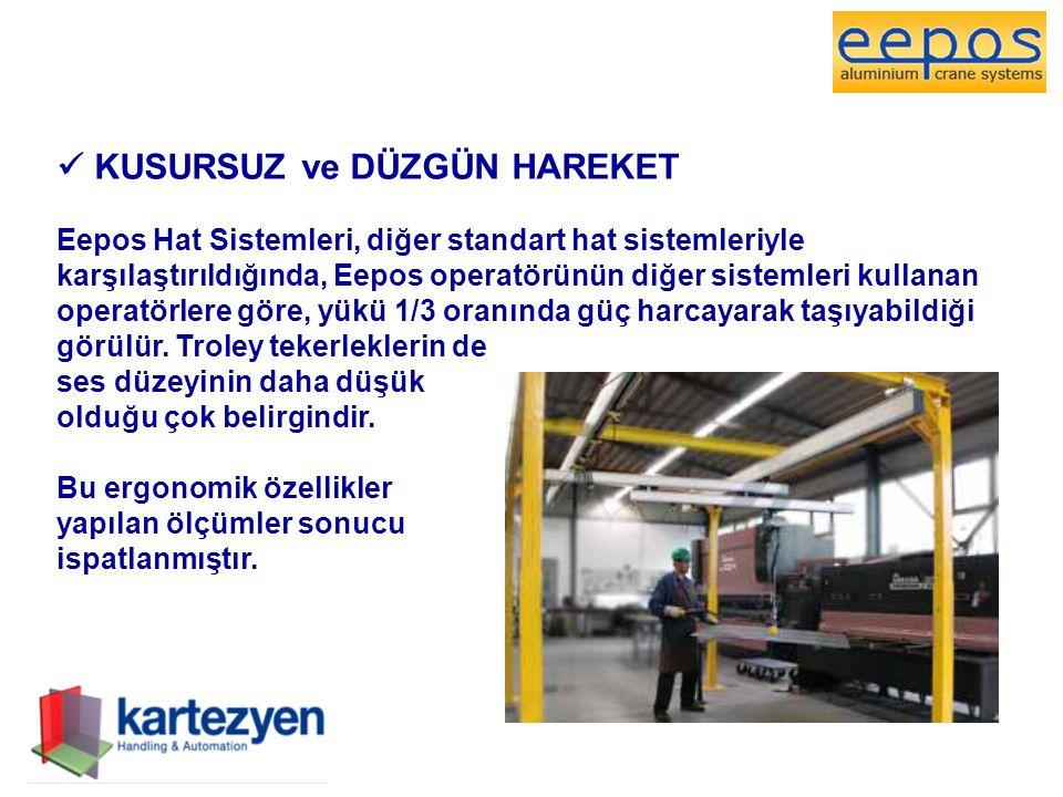  KUSURSUZ ve DÜZGÜN HAREKET Eepos Hat Sistemleri, diğer standart hat sistemleriyle karşılaştırıldığında, Eepos operatörünün diğer sistemleri kullanan