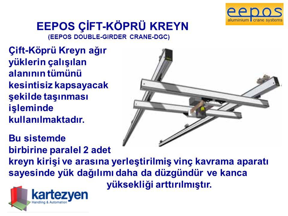 EEPOS ÇİFT-KÖPRÜ KREYN (EEPOS DOUBLE-GIRDER CRANE-DGC) Çift-Köprü Kreyn ağır yüklerin çalışılan alanının tümünü kesintisiz kapsayacak şekilde taşınmas