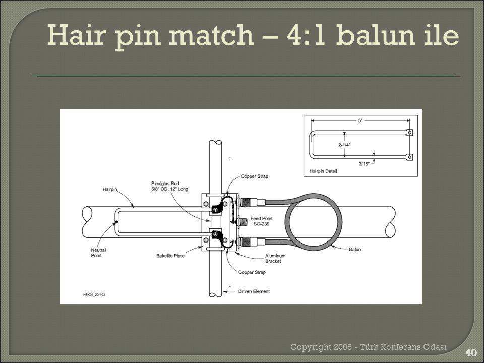 Copyright 2008 - Türk Konferans Odası 40 Hair pin match – 4:1 balun ile 40