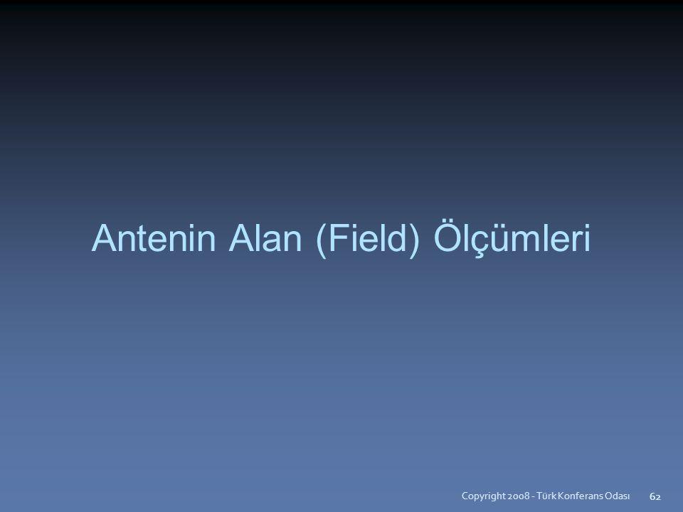 Copyright 2008 - Türk Konferans Odası 62 Antenin Alan (Field) Ölçümleri 62