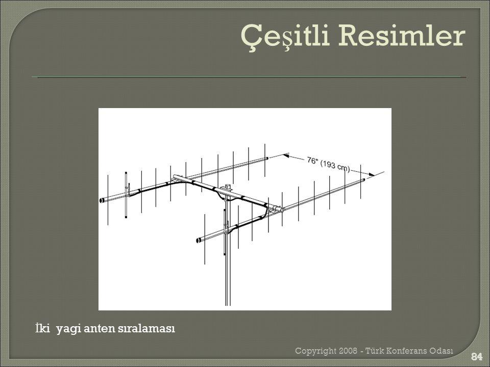 Copyright 2008 - Türk Konferans Odası 84 İ ki yagi anten sıralaması Çe ş itli Resimler 84