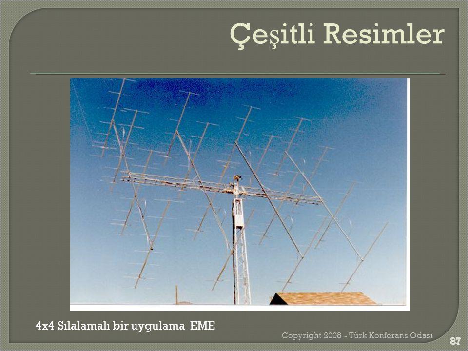 Copyright 2008 - Türk Konferans Odası 87 4x4 Sılalamalı bir uygulama EME Çe ş itli Resimler 87