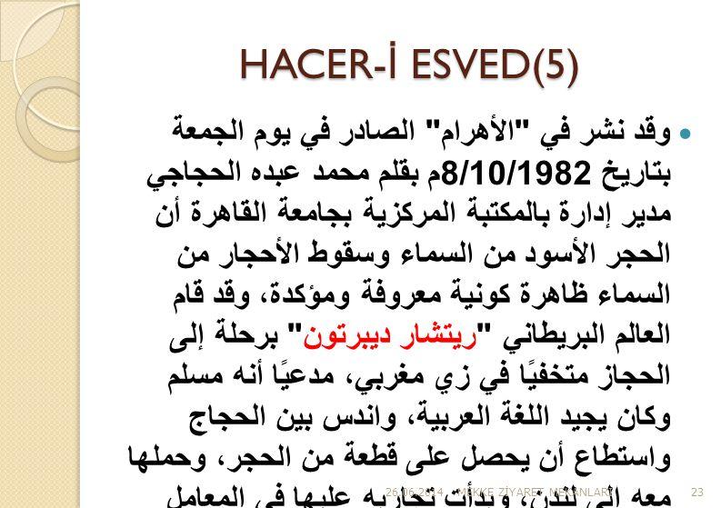 HACER- İ ESVED(5)  وقد نشر في