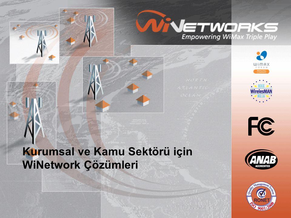 Kurumsal ve Kamu Sektörü için WiNetwork Çözümleri