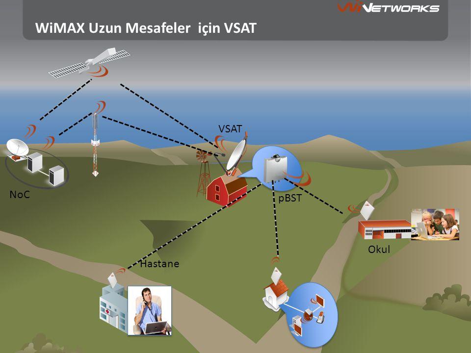 WiMAX Uzun Mesafeler için VSAT VSAT Hastane Okul pBST NoC