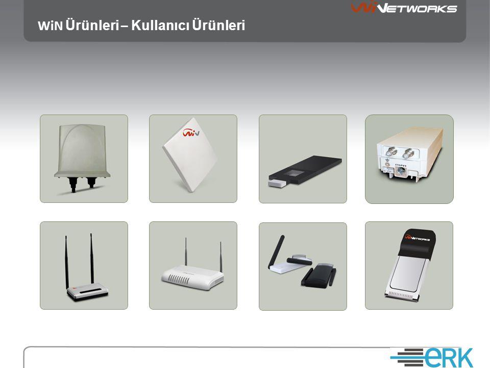 WiN Ürünleri - WiMAX Araç Ünitesi • Dayanıklı • Küçük Boyut • Ethernet 10/100 Mb/s • Güç : 12-24 VDC • 2 anten girişi • Haridi 2 omni anten (MIMO) • Çıkış gücü : +24 dBm