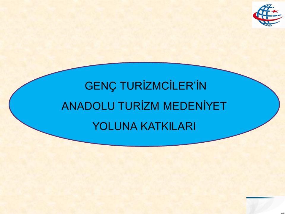 GENÇ TURİZMCİLER'İN ANADOLU TURİZM MEDENİYET YOLUNA KATKILARI