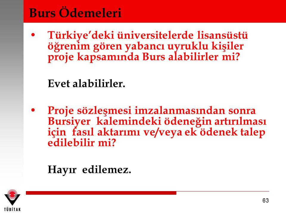 • Türkiye'deki üniversitelerde lisansüstü öğrenim gören yabancı uyruklu kişiler proje kapsamında Burs alabilirler mi? Evet alabilirler. • Proje sözleş