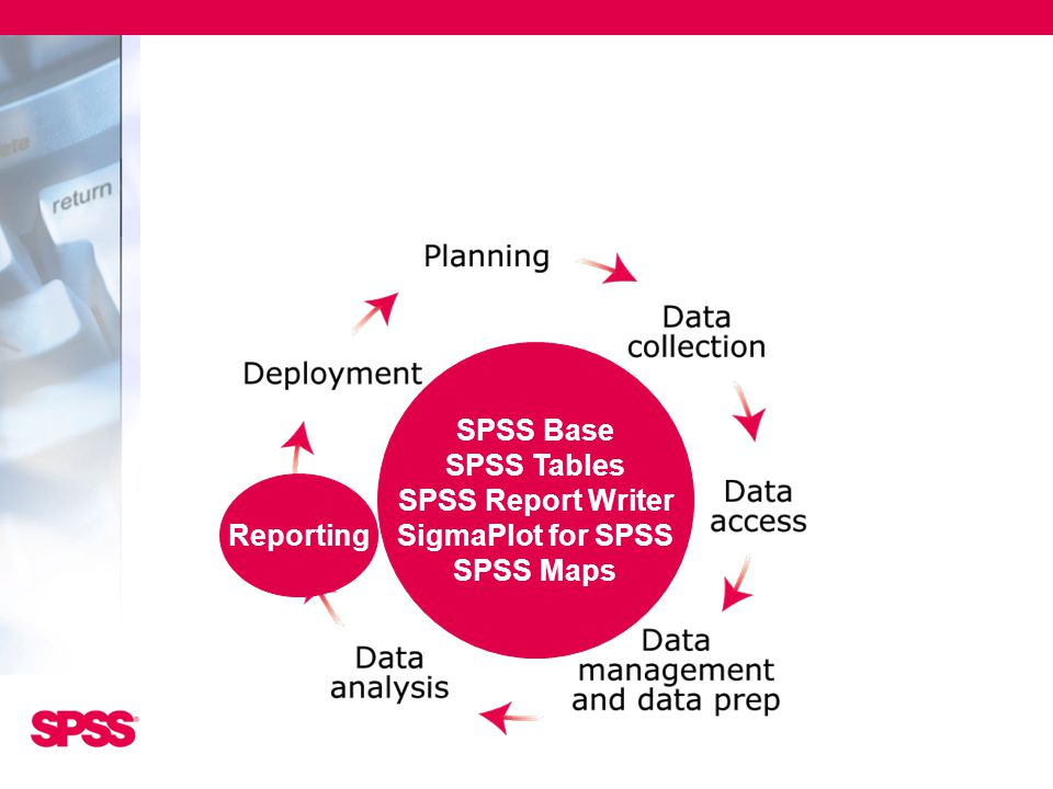 SPSS Base SPSS Tables SPSS Report Writer SigmaPlot for SPSS SPSS Maps Reporting