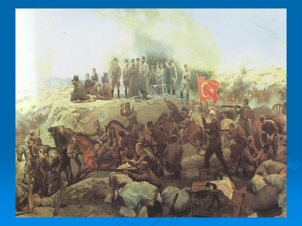 SAKARYA MEYDAN MUHAREBESİ  TBMM Ordusu, Kütahya-Eskişehir Muharebelerindeki yenilgisinden sonra cephe kritik bir duruma düşmüştü. Cepheye gelerek dur