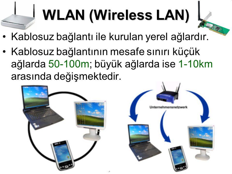 •Kablosuz bağlantı ile kurulan yerel ağlardır. •Kablosuz bağlantının mesafe sınırı küçük ağlarda 50-100m; büyük ağlarda ise 1-10km arasında değişmekte