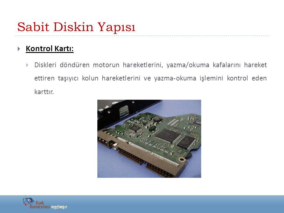 Sabit Disk Tanımları  Sabit diskler kapasiteleri ve devir sayılarıyla anılır.