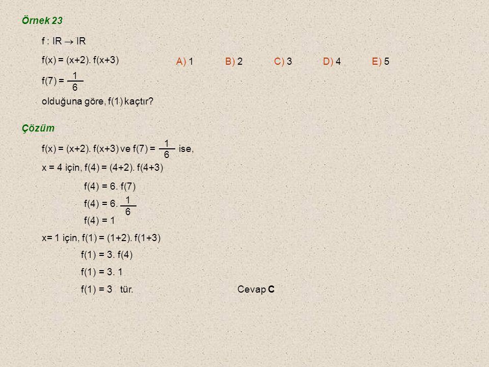 f fonksiyonu ile g fonksiyonu (a, b) noktasında kesişiyorlarsa (f -1 og)(a) = a ve (f og -1 )(b) = b olur.