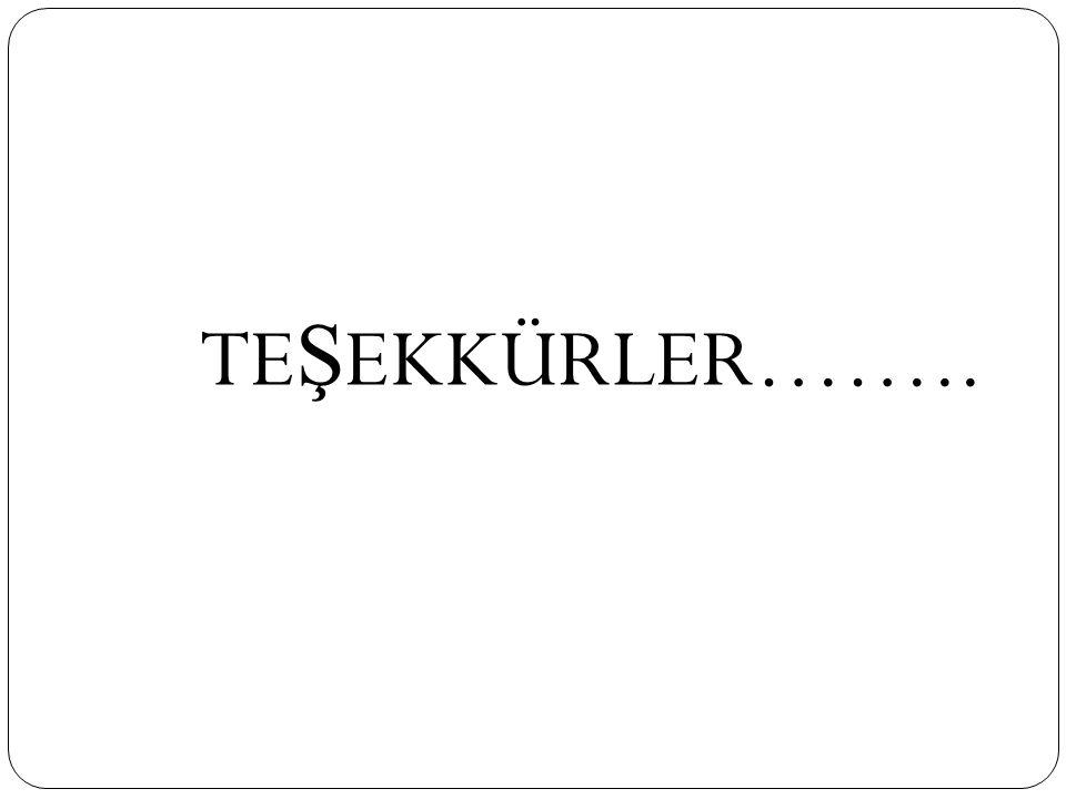 TE Ş EKKÜRLER……..