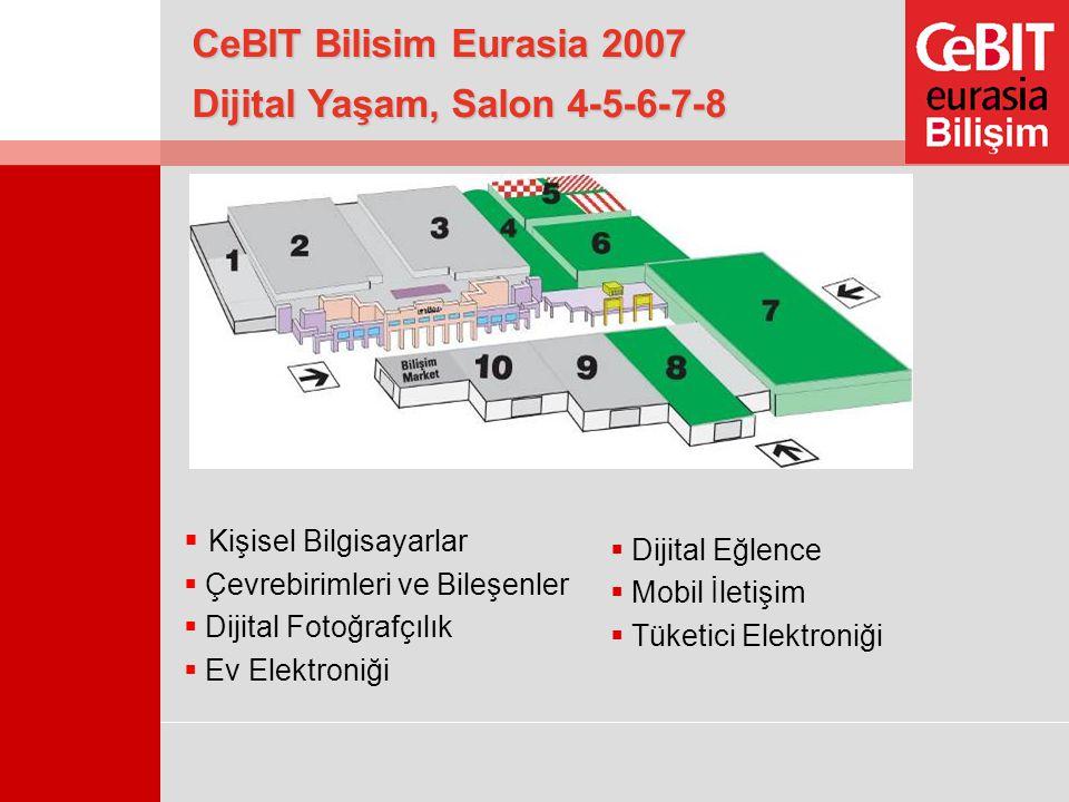 Dijital Yaşam, Salon 4-5-6-7-8  Kişisel Bilgisayarlar  Çevrebirimleri ve Bileşenler  Dijital Fotoğrafçılık  Ev Elektroniği  Dijital Eğlence  Mob