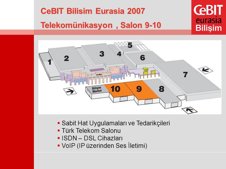 Telekomünikasyon, Salon 9-10  Sabit Hat Uygulamaları ve Tedarikçileri  Türk Telekom Salonu  ISDN – DSL Cihazları  VoIP (IP üzerinden Ses İletimi)