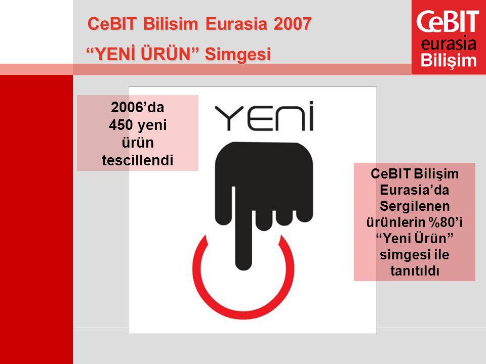 """""""YENİ ÜRÜN"""" Simgesi 2006'da 450 yeni ürün tescillendi CeBIT Bilişim Eurasia'da Sergilenen ürünlerin %80'i """"Yeni Ürün"""" simgesi ile tanıtıldı CeBIT Bili"""