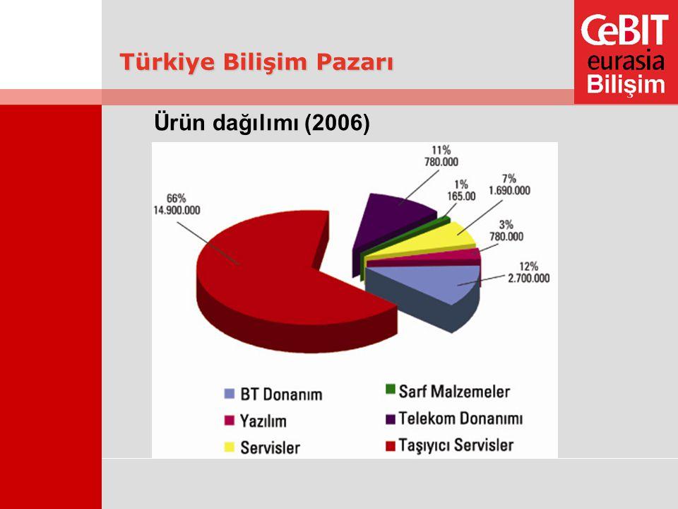 Türkiye Bilişim Pazarı Ürün dağılımı (2006)