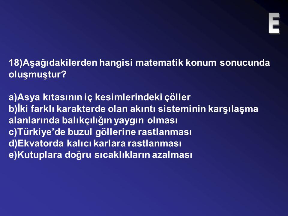 17)Kış mevsiminde Türkiye'nin ortak saatinin kullanıldığı meridyende bulunan bir merkezden 32 boylam daha batıda olan bir merkez kaçıncı saat dilimind