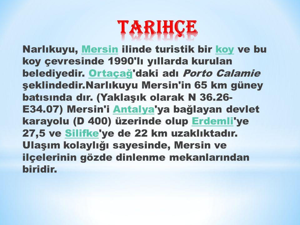 Narlıkuyu, Mersin ilinde turistik bir koy ve bu koy çevresinde 1990 lı yıllarda kurulan belediyedir.