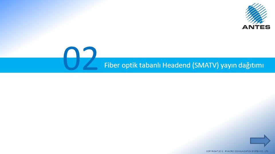 Fiber optik tabanlı Headend (SMATV) yayın dağıtımı 02