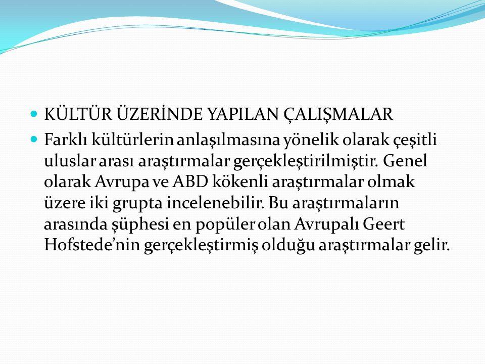  Belirlenimcilik ve Örgütsel Güç Mesafesinin Fazla Olması:  Türk kültüründe belirlenimcilik egemen olup buna bağlı olarak belirsizlikten kaçınma egilimi yüksektir.