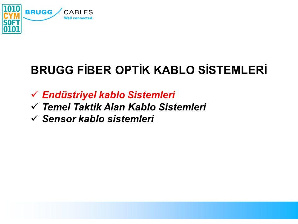 BRUGG FİBER OPTİK KABLO SİSTEMLERİ  Endüstriyel kablo Sistemleri  Temel Taktik Alan Kablo Sistemleri  Sensor kablo sistemleri