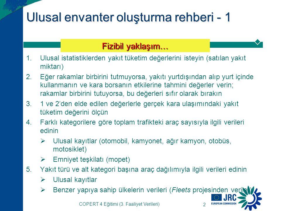 COPERT 4 Eğitimi (3.