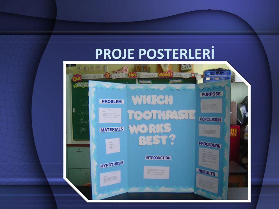 proje posterleri •Fuar veya sergilerde tanıtımı yapılan projelerin, ziyaretçiler tarafından anlaşılmasını sağlamak için proje posterleri özenle hazırlanmalıdır.