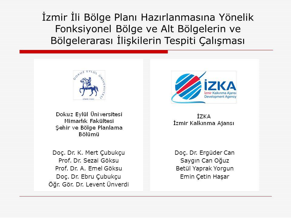 Çalışmanın Amacı İzmir İl sınırları içerisinde gelecekte oluşacak demografik, ekonomik ve mekansal yapılarınortaya konması ve hazırlanacak olan bölge planı için çok temel bazı öngörülerin sıralanması.