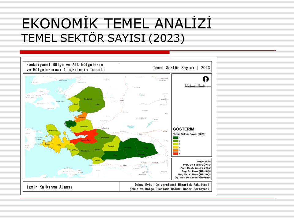 TEMEL İŞGÜCÜNÜ MEKANSAL ANALİZİ MERKEZİ EĞİLİM VE YAYILIM (2023)