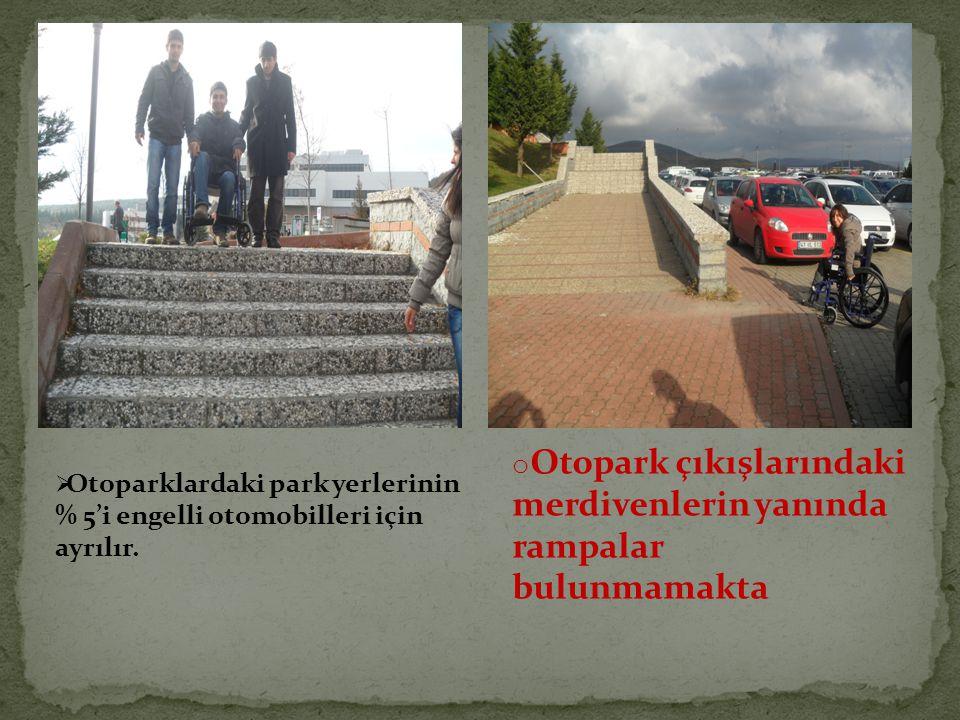  Otoparklardaki park yerlerinin % 5'i engelli otomobilleri için ayrılır.