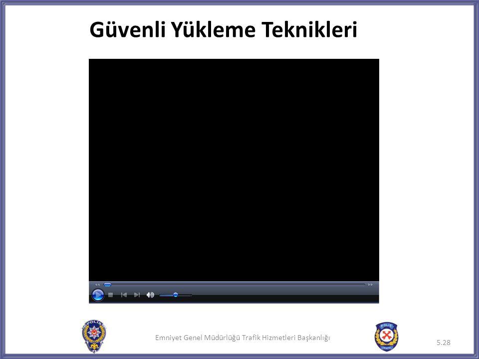 Emniyet Genel Müdürlüğü Trafik Hizmetleri Başkanlığı 5.28 Güvenli Yükleme Teknikleri
