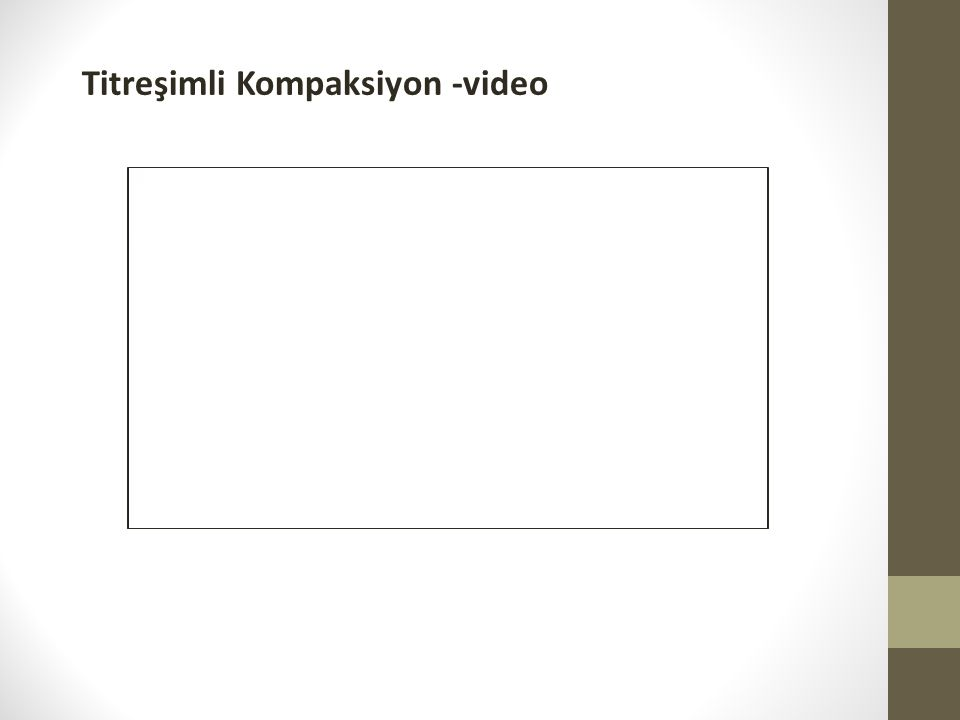 Titreşimli Kompaksiyon -video