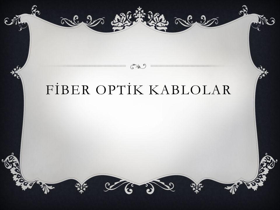  Standart bir fiber kablo 3 kısımdan oluşur.