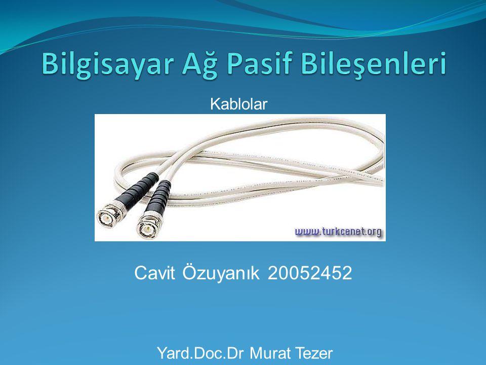 Cavit Özuyanık 20052452 Kablolar Yard.Doc.Dr Murat Tezer