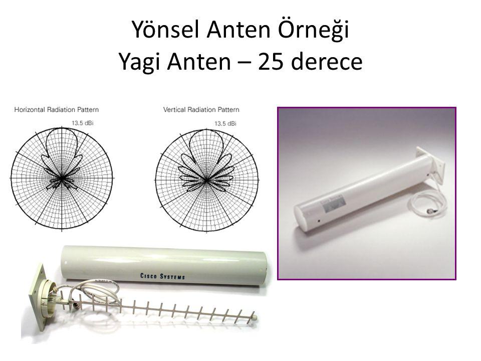 Yönsel Anten Örneği Yagi Anten – 25 derece