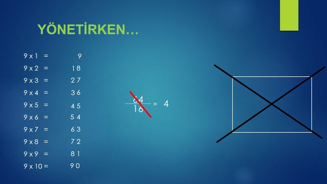 9 x 1 = 9 x 2 = 9 x 3 = 9 x 4 = 9 x 5 = 9 x 6 = 9 x 7 = 9 x 8 = 9 x 9 = 9 x 10 = 9 1 2 3 4 5 6 7 8 9 0 64 16 8 7 6 5 4 3 2 1 4 =