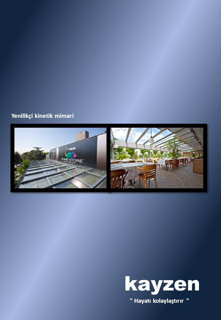 1988 yılından bugüne, inşaat sektörünün çeşitli alanlarındaki proje ve uygulama deneyimleriyle, KAYZEN YAPI açılır tavan sistemleri konusunda imalat, satış, projelendirme ve montaj hizmeti vermektedir.