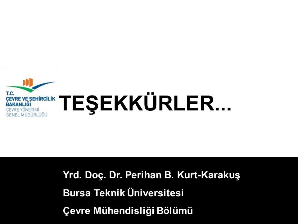 Yrd. Doç. Dr. Perihan B. Kurt-Karakuş Bursa Teknik Üniversitesi Çevre Mühendisliği Bölümü TEŞEKKÜRLER...