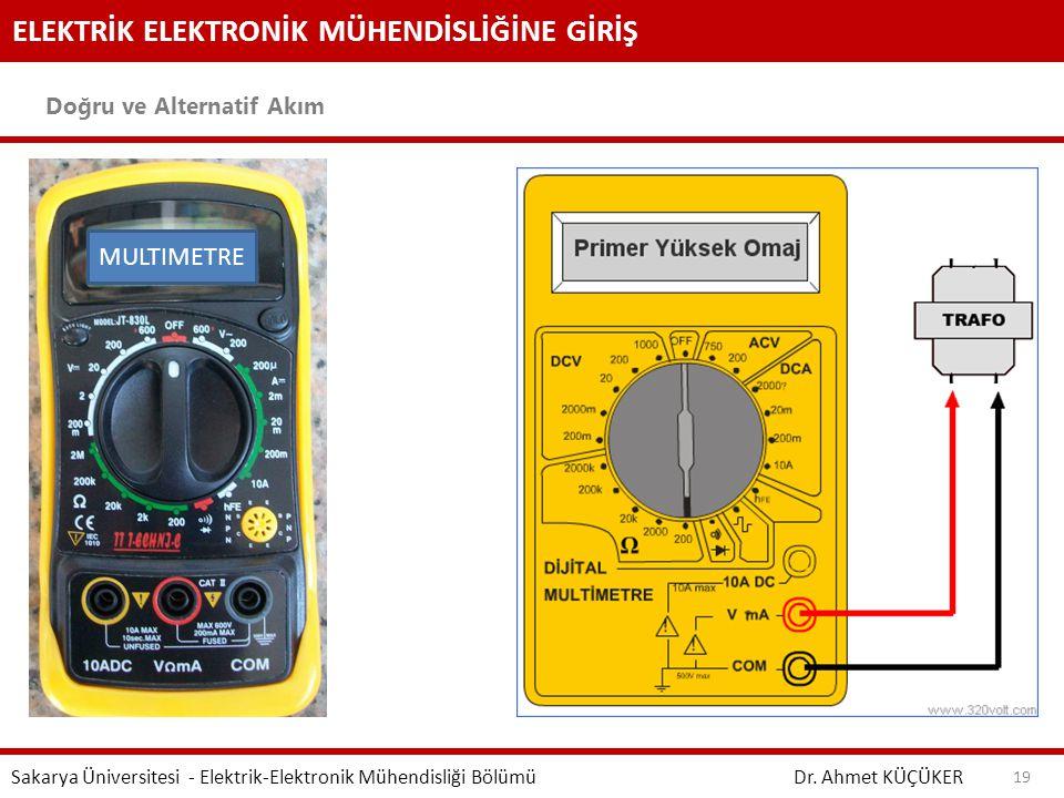 ELEKTRİK ELEKTRONİK MÜHENDİSLİĞİNE GİRİŞ Doğru ve Alternatif Akım Dr. Ahmet KÜÇÜKER Sakarya Üniversitesi - Elektrik-Elektronik Mühendisliği Bölümü 19