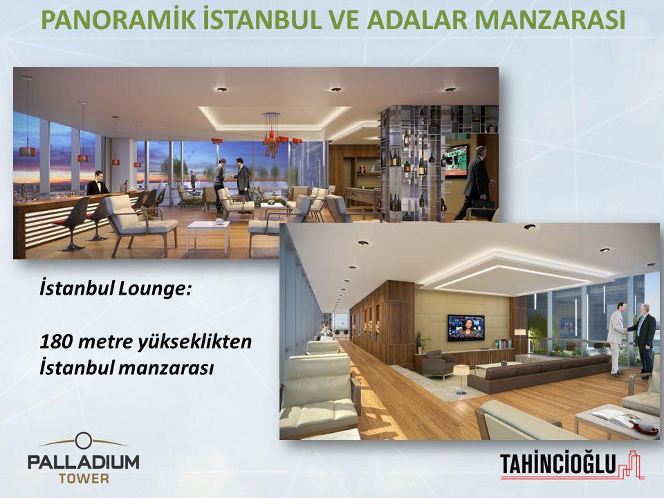 İstanbul Lounge: 180 metre yükseklikten İstanbul manzarası PANORAMİK İSTANBUL VE ADALAR MANZARASI