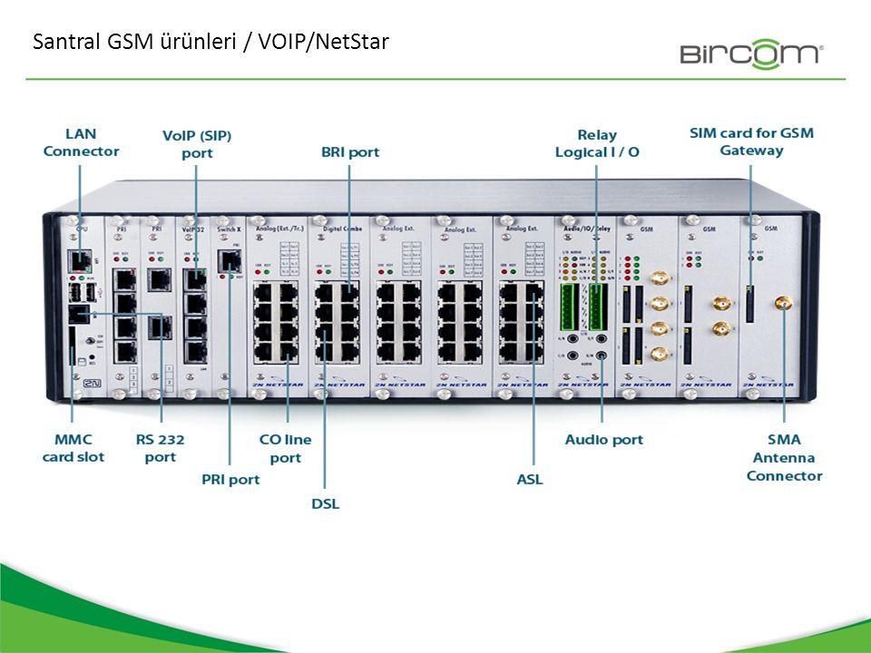 Santral GSM ürünleri / VOIP/NetStar