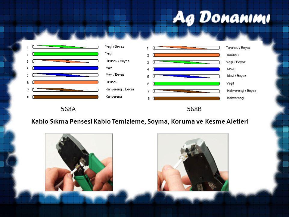 568A568B Kablo Sıkma Pensesi Kablo Temizleme, Soyma, Koruma ve Kesme Aletleri