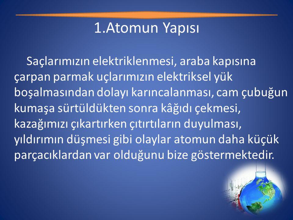 Element Çeşitleri • Atomik Yapıdaki Elementler Bazı elementleri oluşturan aynı cins atomlar doğada tek başlarına bulunurlar.